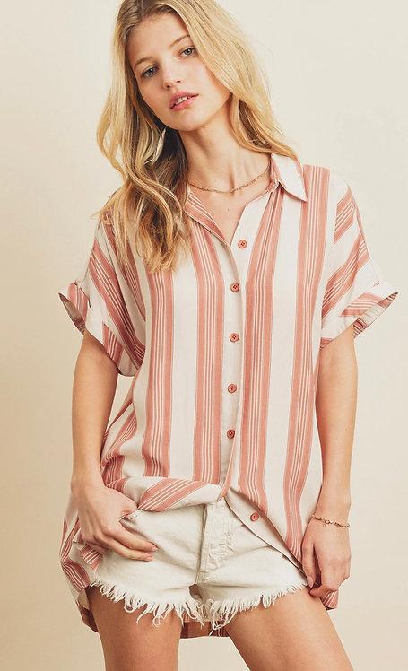 Stripe Satin tunic/shirt