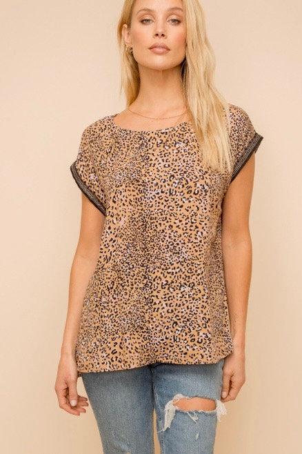 Leopard Tunic Top