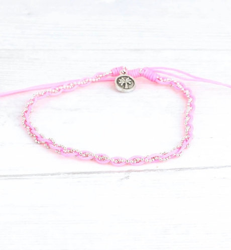 Summertime pink-Anklet