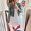 Thumbnail: Gingham check sleeveless dress in ivory