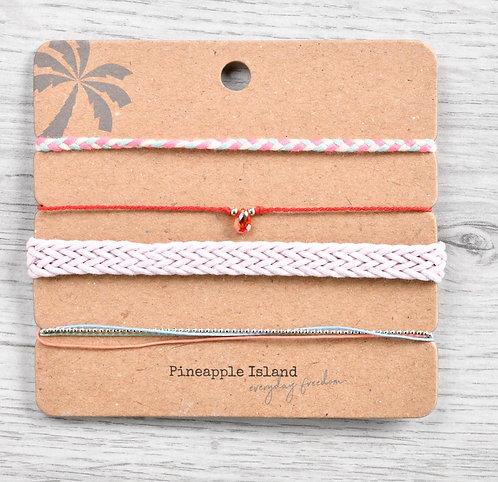 Bracelet Pack-Coral/pink tones