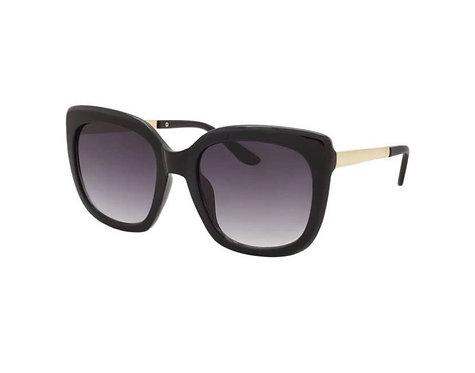 Hollywood Glam Sunglasses-Jet Black