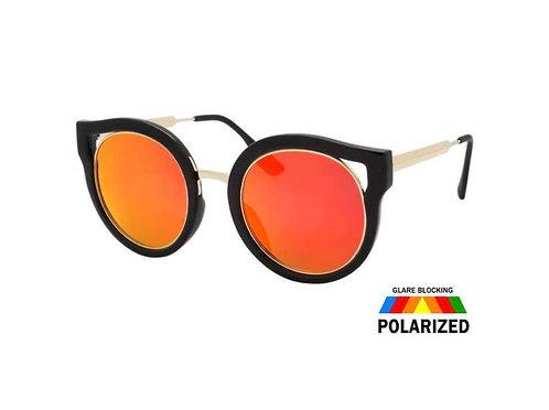 Polarized Fashion Sunnies-orange/black