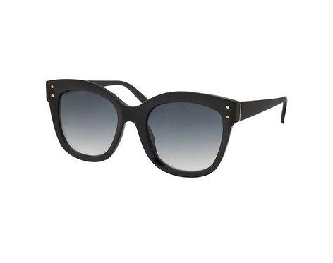 Classic Cat Eye Sunglasses-Shiny Black