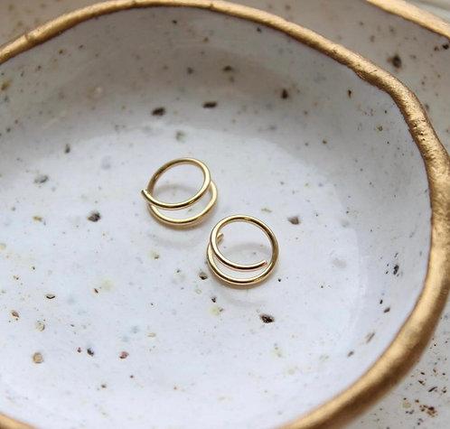Tiny twists earrings-14k gold fill