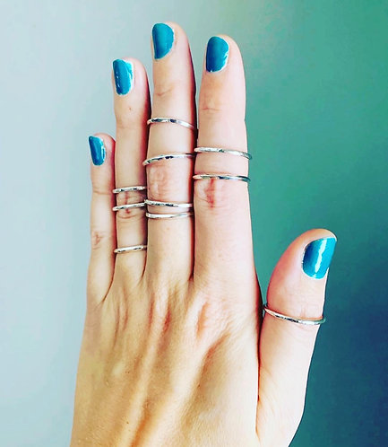 Sterling Silver Stackable Rings-Two Styles!
