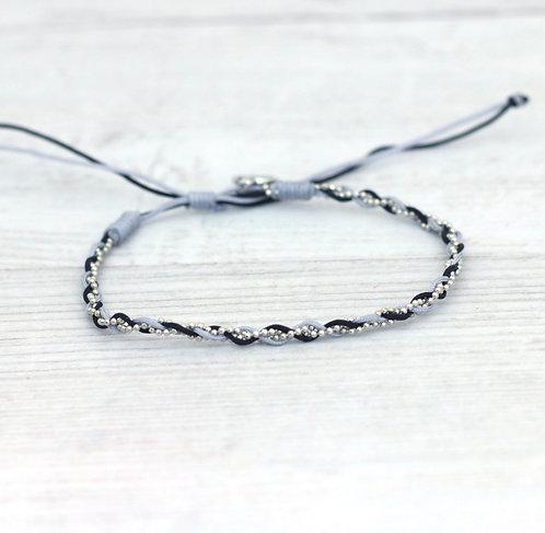Neutral tones Anklet-Silver