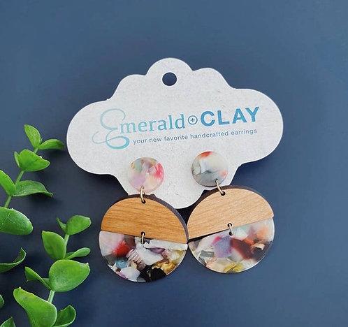 Acrylic Hinged Circle-light confetti