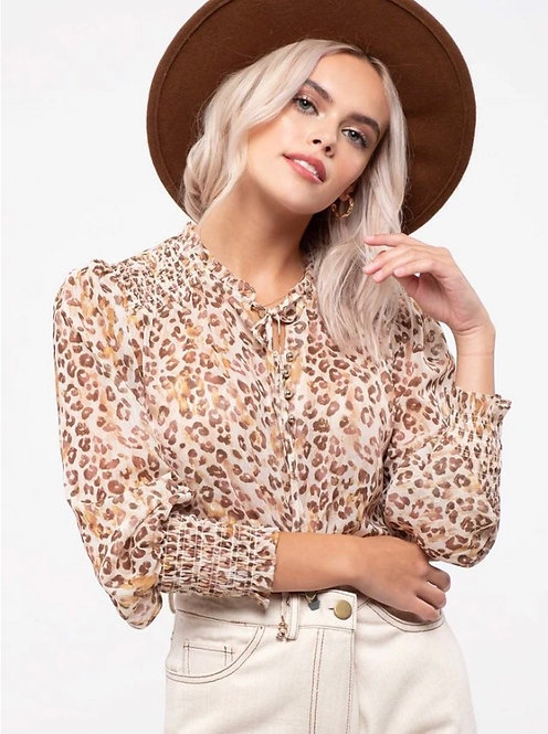 Everyday sheer leopard blouse