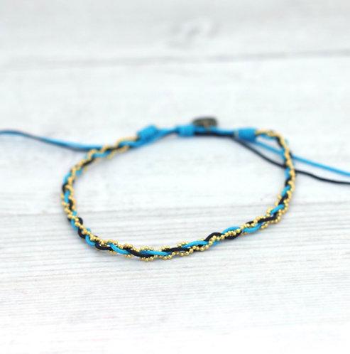East Bay Blue-Anklet/gold