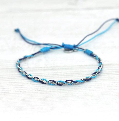 East Bay Blue-Anklet/silver