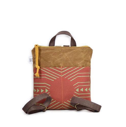 Mini backpack-waxed canvas/reef
