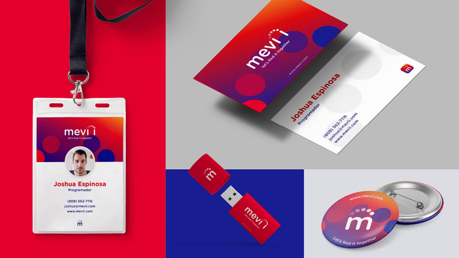 carnet, usb, tarjeta de presentación y diseño de boton