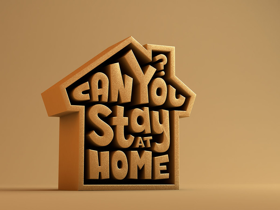 Can you stay home diseño 3d
