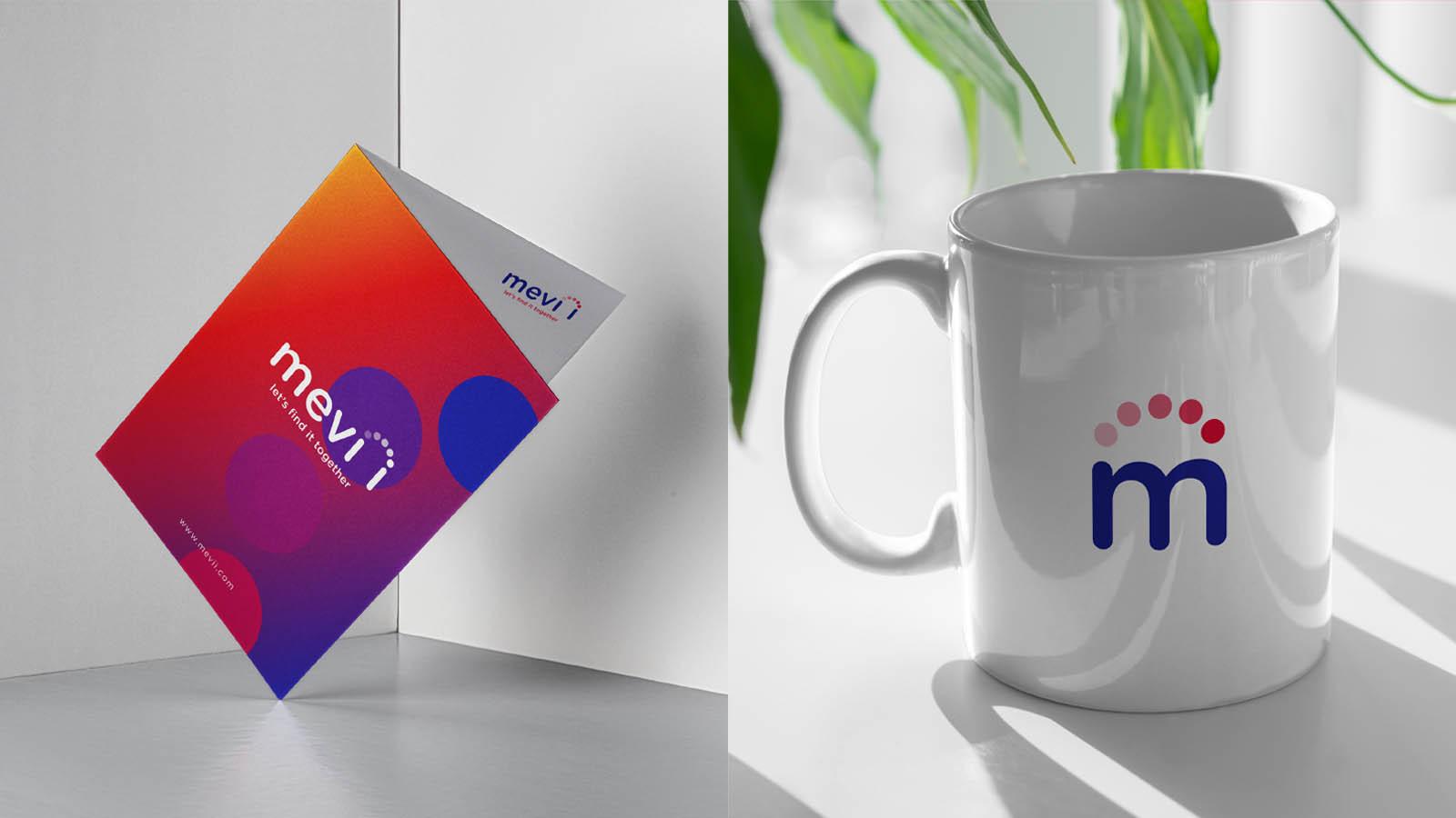 aplicacion taza y panfleto diseño mevii