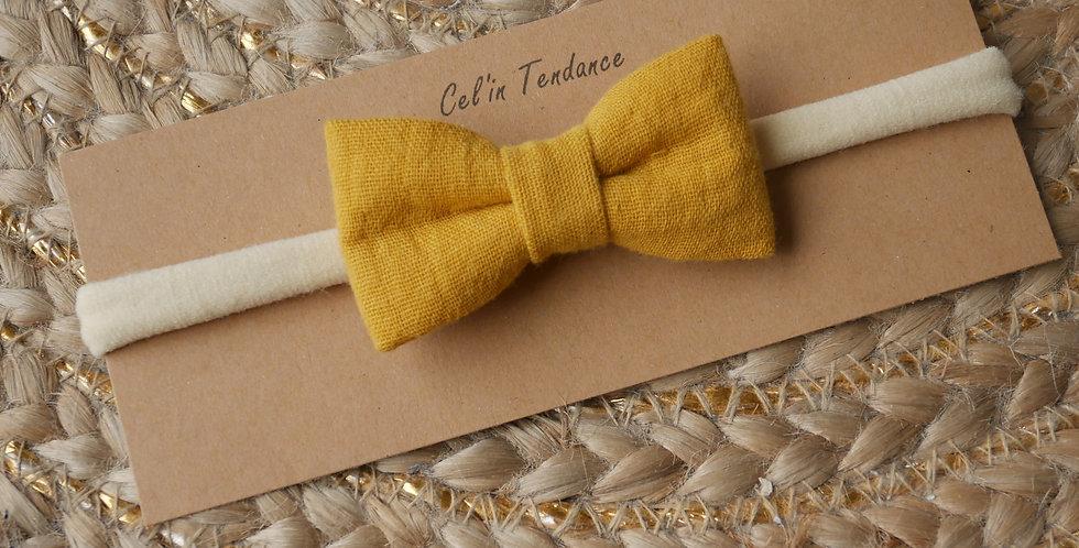 Bandeau EMMA ( jaune moutarde )