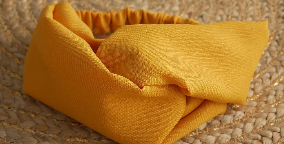 Headband LEA ( jaune moutarde )