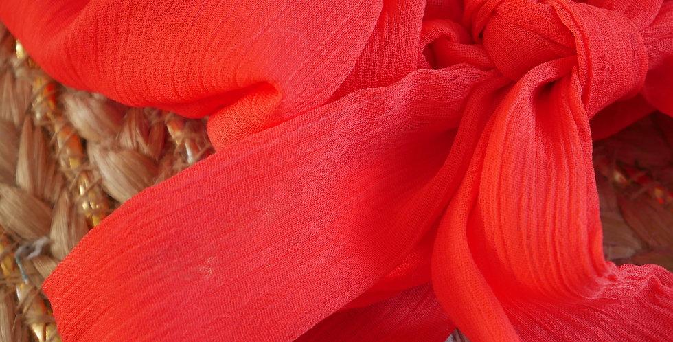 Chouchou foulard SIXTINE (orange)