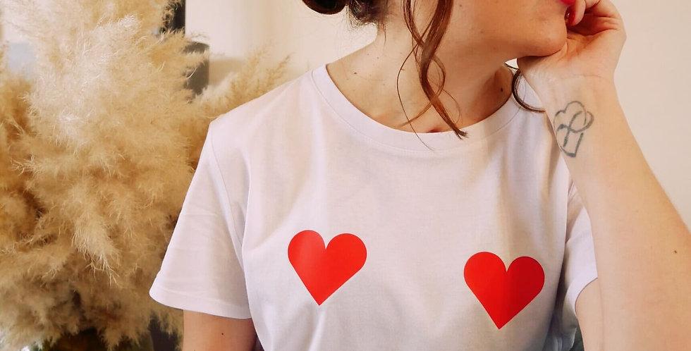 """T-shirt """"Boobs ❤""""+ Chouchou"""
