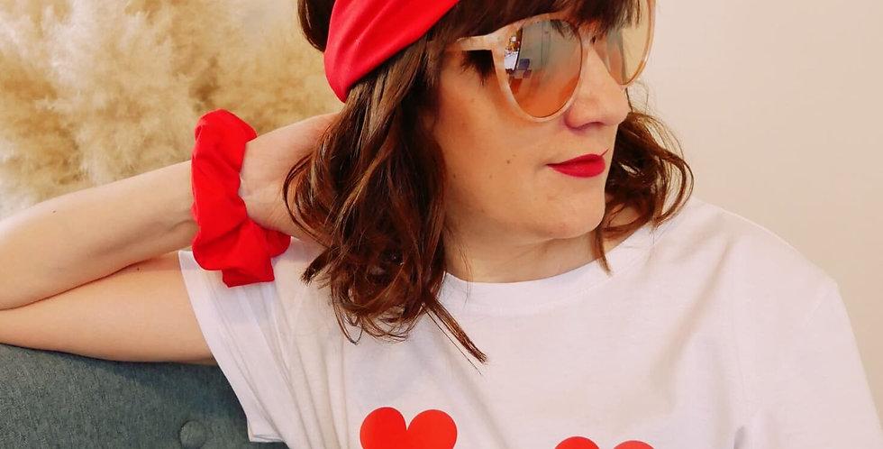 """T-shirt """"Boobs ❤"""" + Headband"""