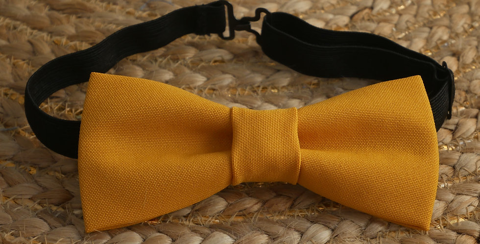 Noeud-papillon LEA ( jaune moutarde )