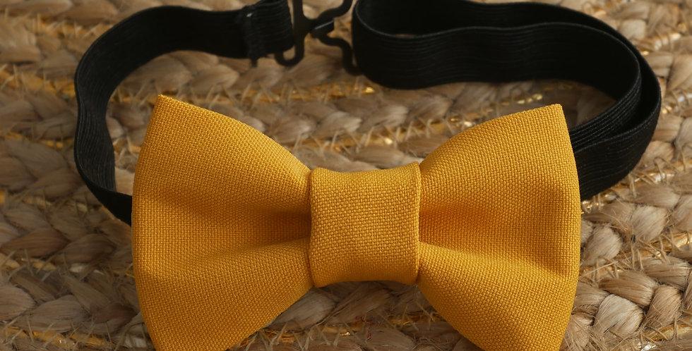 Noeud-papillon enfant LEA ( jaune moutarde )