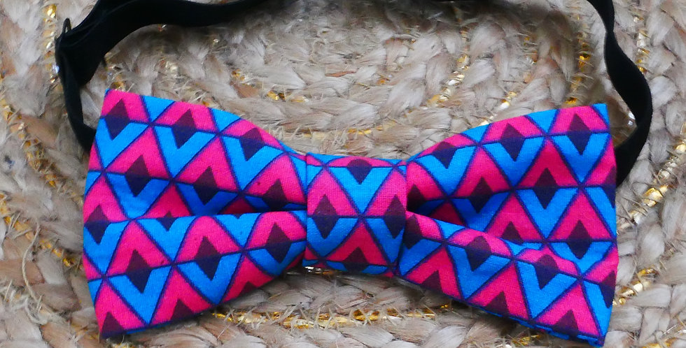 Noeud-papillon wax à triangles
