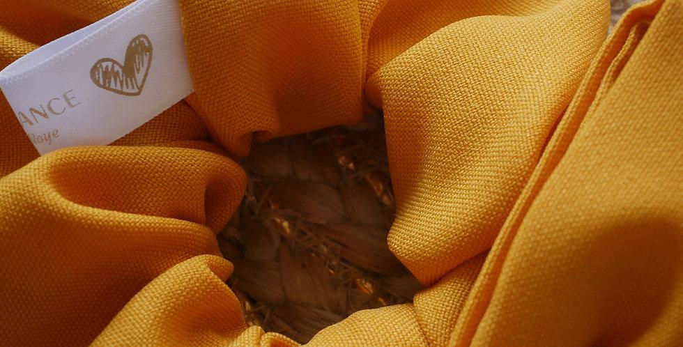 Chouchou foulard LEA ( moutarde )