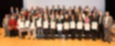 Gruppenfoto mit allen Ausgezeichneten Unternehmen.