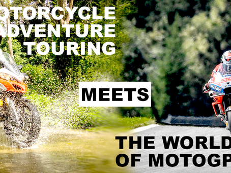 Motorcycle adventure touring meets the world of MotoGP