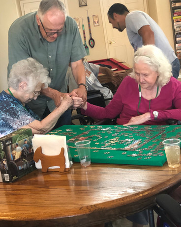 Norma & Jean pray and play