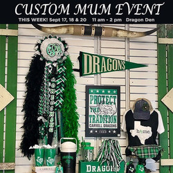 Come see Gameday Mums today at the Drago