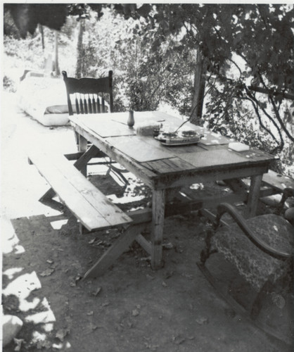 The first dining table at the Ranch House.