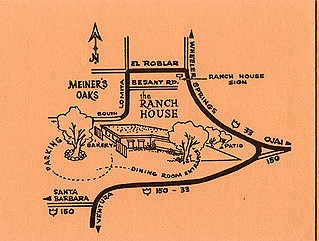 Ranch House vintage map