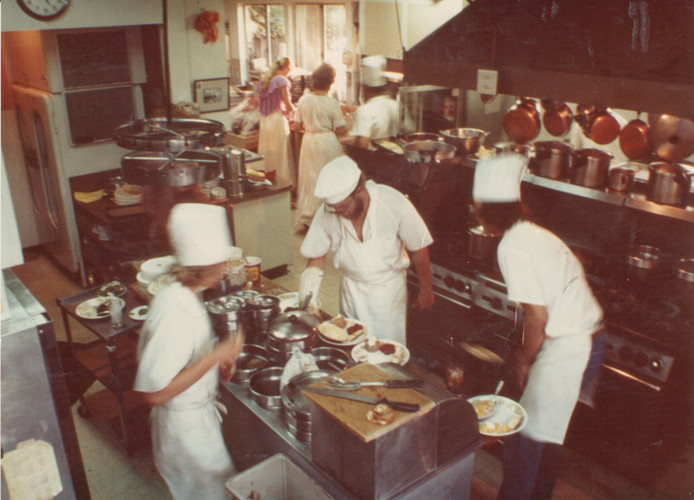The Ranch House kitchen, 1970s.