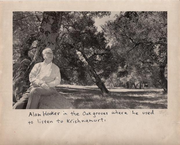 Alan Hooker in the Oak Grove.