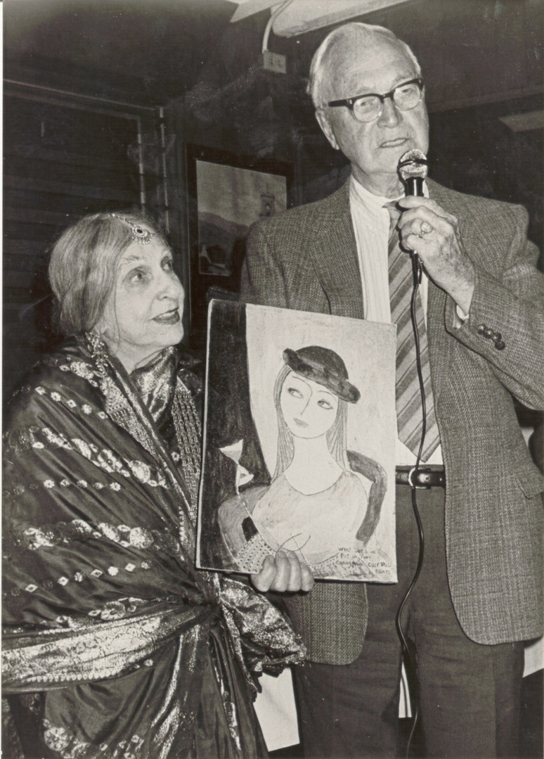 Alan Hooker and artist Beatrice Wood.