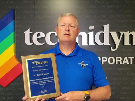 Technidyne's Popson Wins TAPPI Award
