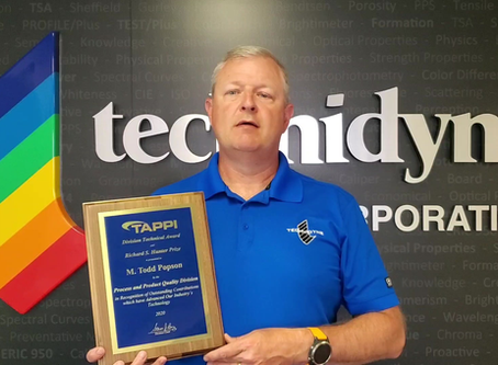 Technidyne's Popson Wins TAPPI Award