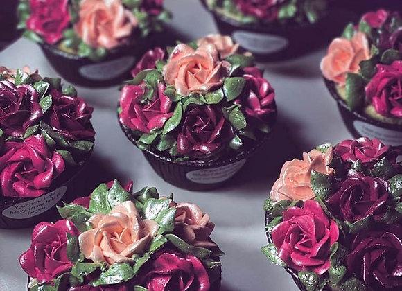 Porcelain Rose Bouquet-Cupcakes