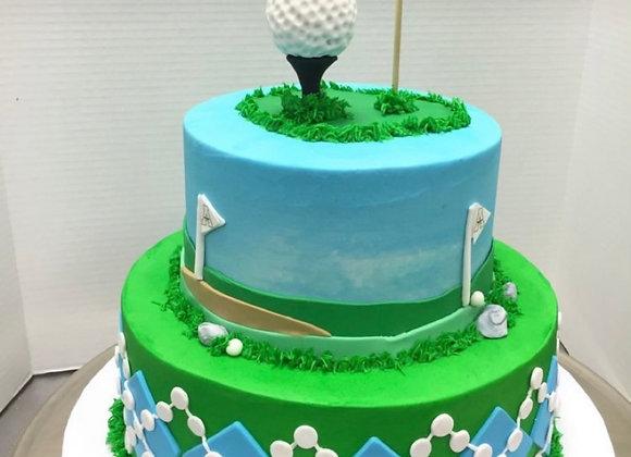 Golf Custom Cake