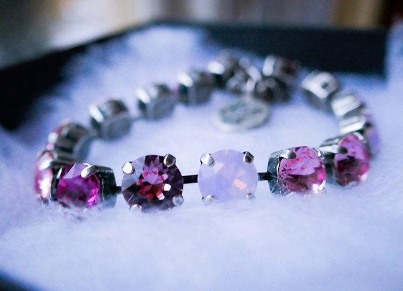 Rose Crystal & Pearl Bracelet