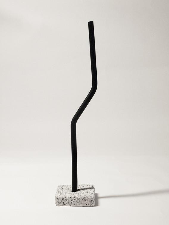 studio-grey-on-grey--candle-holder-o-twisted-candles-black
