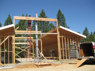 Raising beams with hand jack