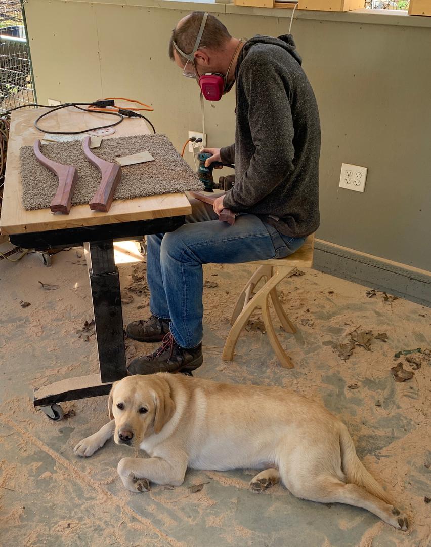 Michael & Willie working hard