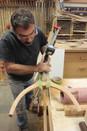 Steve shaping pedestal legs