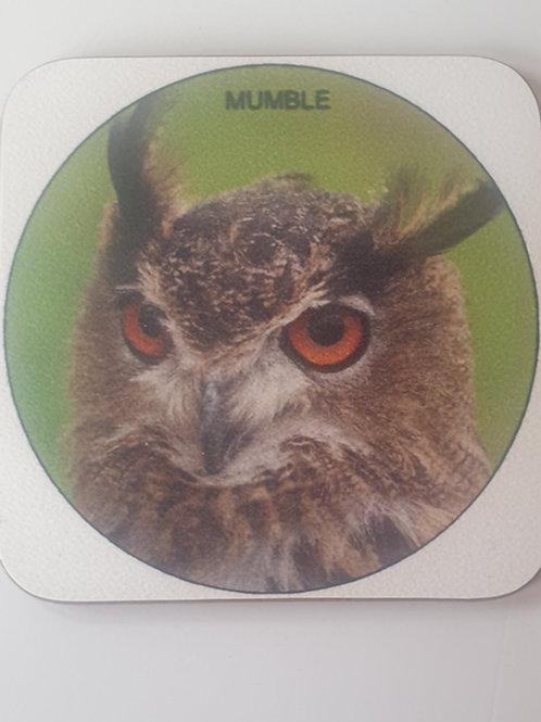 """""""Mumble"""" European Eagle Owl Coaster"""