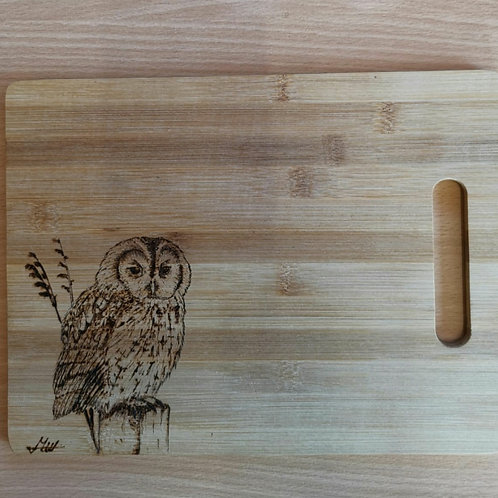 Tawny Owl Hand Made Decorative Chopping Board