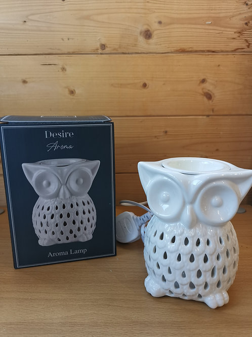 Large Owl White Electric Aroma Melter