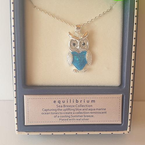 """""""Sea Breeze"""" Owl Necklace"""